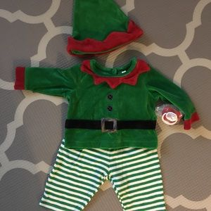 🇺🇸 Baby Christmas Elf Outfit Sz 3-6 months